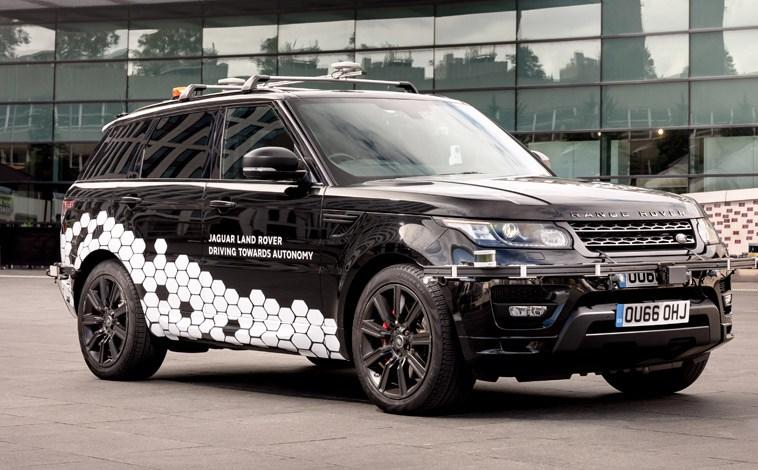 Self-driving Land Rover on the road!